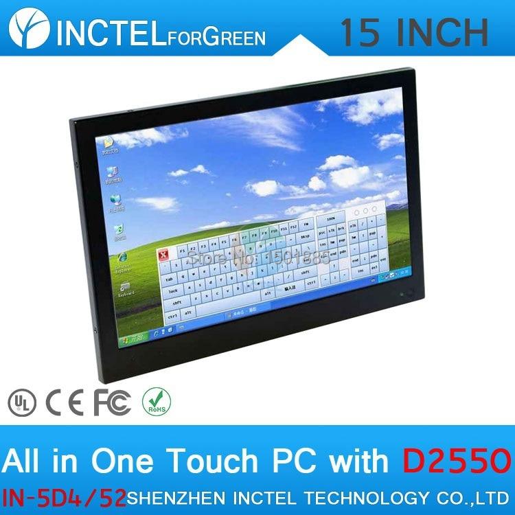 Dernier écran tactile de panneau de LED de 15 pouces tout en un windows POS ordinateurs double 1000 Mbps Nics 4G RAM 64G SSD 500G HDD - 4