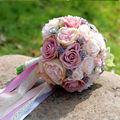 2017 Newest Bridal Wedding Bouquet de mariage Pearls Bridesmaid Artificial Wedding Bouquets Flower Crystal buque de noiva