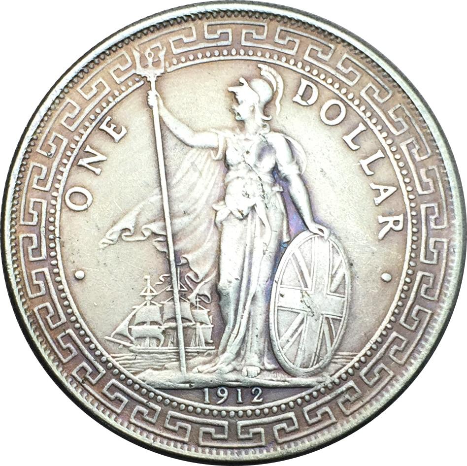 british 1912 trade one dollar george v cupronickel silver
