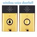 Золотой цвет 1 до 1 беспроводной дверной звонок H6 система голосовой связи система вызова посетителей для дома аудио телефон двери в дверь те...