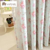 Rustic Floral Design Full Shading Blackout Curtains For Balcony French Window Treatments Bedroom Curtain Fabrics Blind