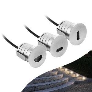 Image 2 - 6 ADET 1W LED Gömme Led merdiven lambası DC12V Kapalı Köşe Duvar Işıkları Su Geçirmez Adım Dekorasyon Lambası Koridor Merdiven Lambaları