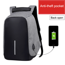 2017 New Design Men Casual Backpacks Anti-theft USB charging Backpack Unisex High Capacity School Bags Business Travel Bag B036