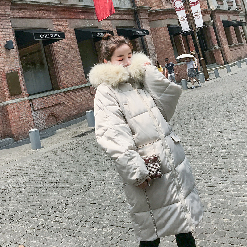 2018 winter women hooded coat fur collar thicken warm long jacket female plus size 3XL outerwear parka ladies fashion clothing