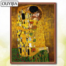 OUYIJIA 5D DIY Diamond Famous Painting Full Square Gustav Klimt Embroidery Painting Sale Diamond Mosaic Picture Of Rhinestones(China)