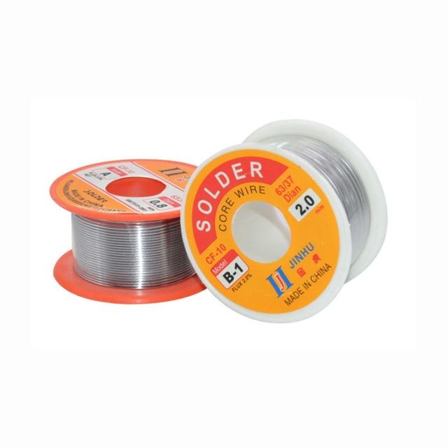 0.3/0.4/0.5/0.6/0.8/1/1.2/1.5/2.0mm 50/100g 2.0% étain plomb étain fil fusible colophane noyau soudure fil à souder rouleau de haute qualité