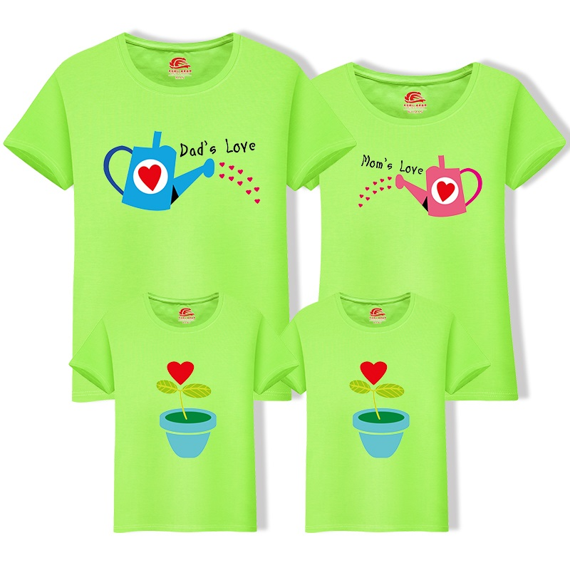 HTB1kv1UenCWBKNjSZFtq6yC3FXaq - Matching Family Clothing 1 piece Family Cultivate Love Summer Short-sleeve T-shirt Outfits For Mother Daughter And Father Son