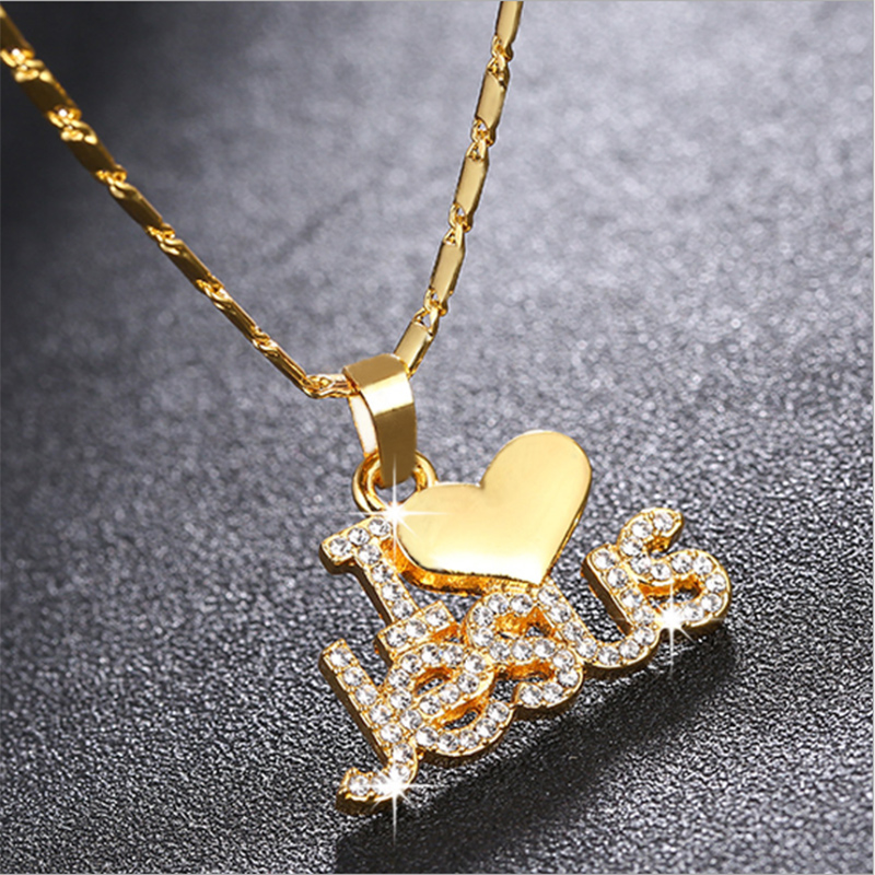 dainty arabic Rhinestone heart snap gold necklace for women silver best friends necklaces&pendants custom necklace chain jewelry