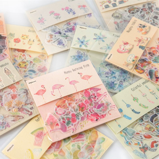 Japanese Refreshing Planner Stickers and Decorative Sticker Collection for Kids DIY Crafts, Scrapbooking, Calendars, Arts, Album russian decorative arts