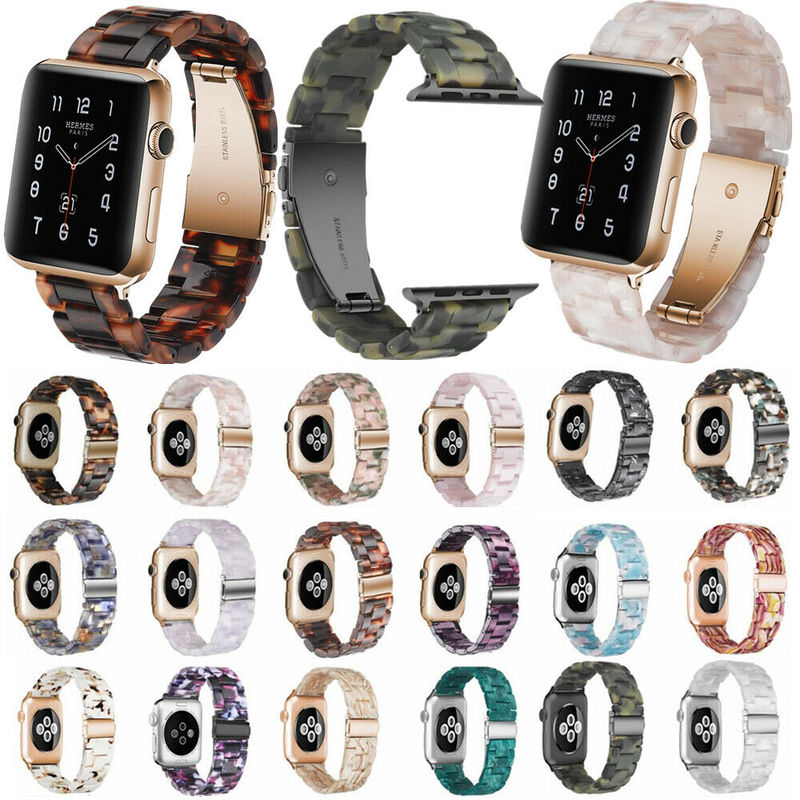 Watch Strap for Apple Watch 5/4/3/2/1 38/40/42/44mm Strap Resin Material Ladies Bracelet Wrist Belt Watch Accessories Watchband