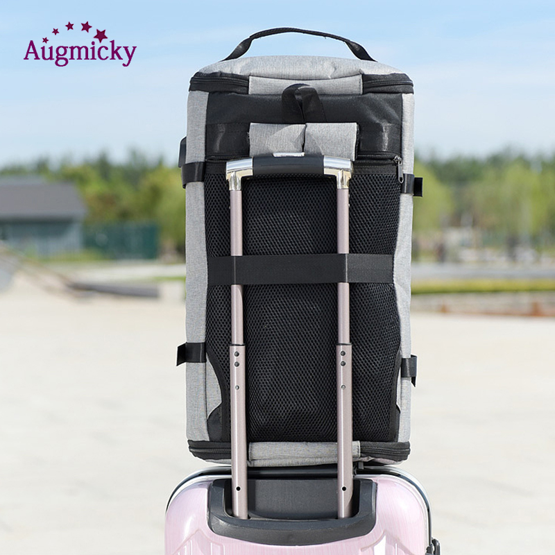 Image 4 - USB Charging Laptop Backpack Shoe Pocket 15.6 inch Anti Theft Women Men School Bags For Girls College Travel Backpacks Rucksack-in Laptop Bags & Cases from Computer & Office