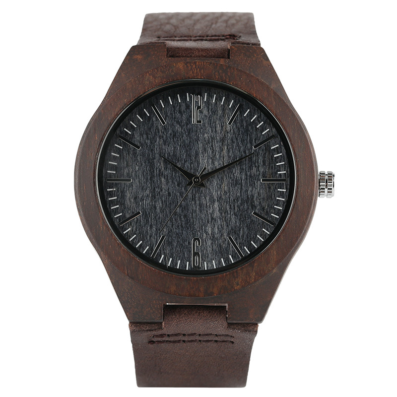 Retro Wood Watch Natural Sandalwood Cover Real Leather Strap Casual Men Women Wooden Wristwatch All-match Clock 2017 Hot Gifts