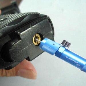 Image 2 - Taktische Jagd Getriebe 12g Nachfüllen Wiederverwendbare Co2 Cyliner Kapsel mit Tragbare Anzeige Adapter für Jagd Airsoft Luftgewehr Pistole
