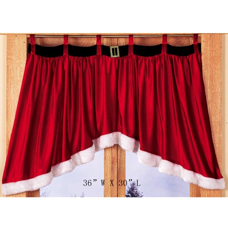 Cortinas Para Armarios.Cortinas Decorativas Creativas De Terciopelo Rojo Denso Navidad