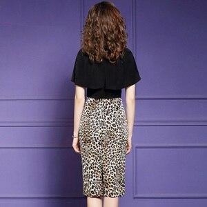Image 2 - Vestido de Primavera de talla grande de leopardo, retazos