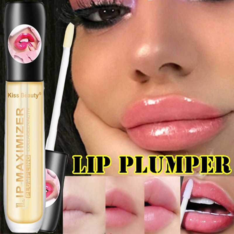 Professional Lips Makeup Plumper Lip Gloss Long Lasting Big Lip Plump Moisturizer Volume Full Sexy Lipgloss Fade Lips Lines