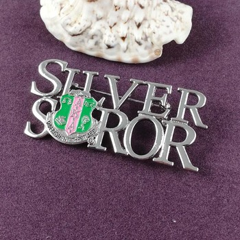 AKA sliver Soror Lapel Pin brooch 1