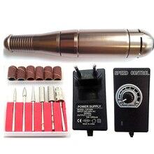 Professional auto nail polishing buffing /nail polishing machine /steel electric grinder handle guns with 1 set nail drill bits