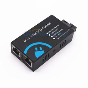 Image 5 - MINI konwerter światłowodowy 2 RJ45 do 1 SC złącze 10/100Mbps z włókna optyczny media konwerter tryb pojedynczy Duplex Wavelenth 1310nm 20km