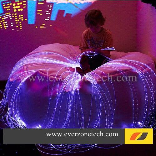Цветочный светодиодный волоконно оптический свет 60 шт боковой