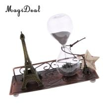 Magnetic Eiffel + Sand Glass Hourglass Timer Home Office Shop Cafe Bar Club Decor Timing Countdown