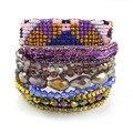 Bonsny Boho Bracelet Handmade Bracelet Women bohemian Brand Bangle Weave Fashion Bracelets 2016 New Pulsera Jewelry For Girl