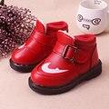 De alta calidad zapatos de bebé bebé zapatos de invierno botas de bebé calientes niñas de algodón caliente zapatos infantiles del niño de la pu de cuero zapatos de niña,