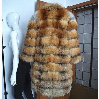 2019 جديد السيدات الطبيعية النار الثعلب معطف الفرو الشتاء الدافئ الأزياء الأوروبية والأمريكية أسلوب الشارع 1