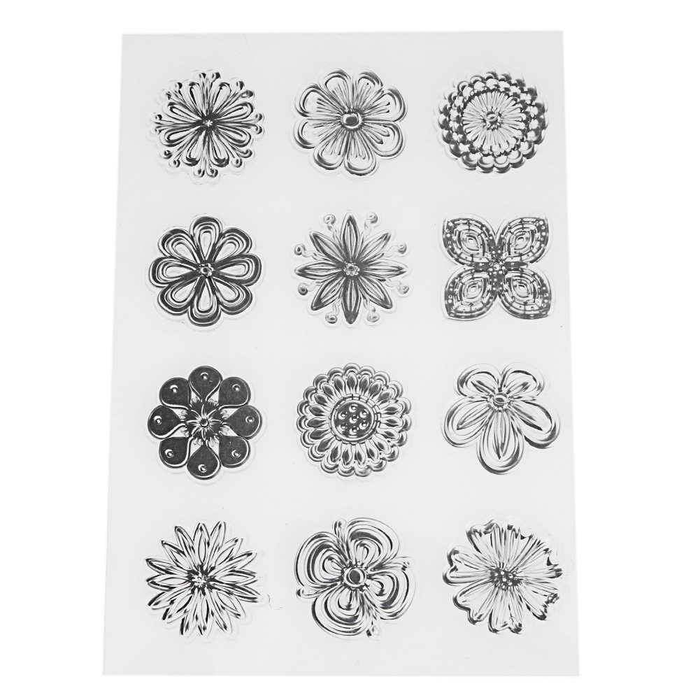 11 Types Transparent Clear Stamps for Scrapbooking DIY Christmas Cards Making Decorative Silicone Clear Stamp Seal Craft Tool