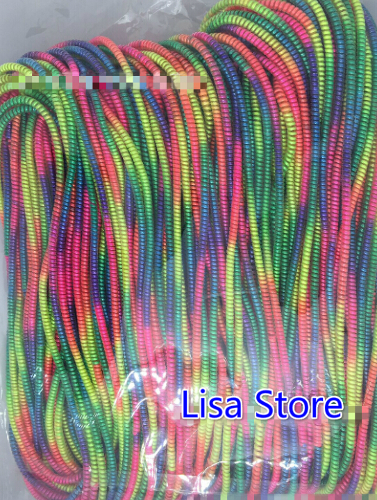 20pcs Rainbow Colors Spring Protective sleeve Mobile Tablet Spiral Cord Protector for Cell Phone iPhone Charger Earphone Cord