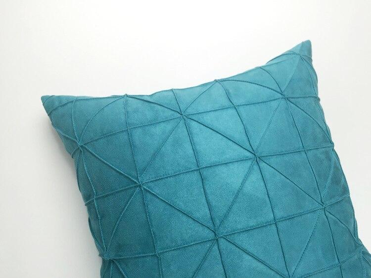 Kussens Blauw Grijs : Cm rasterpatroon blauw grijs effen kleur eenvoudige moderne