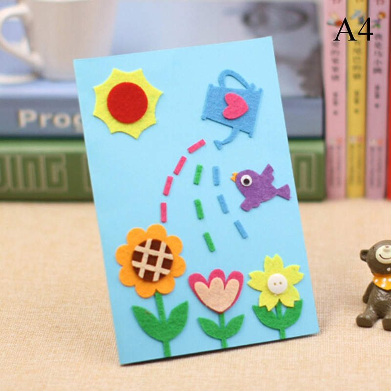 DIY Greeting Card Blank Felt Handmade Gift Kids Children Beautiful Birthday Art Craft Kit Kindergarten Educational Toy In Cards Invitations From