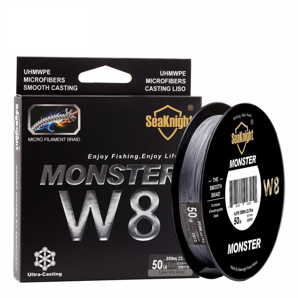 цена на Quality Monster W8 300M 8 Strands Fishing Line Multifilament Fishing PE Line 8 Weaves Strong Braided Wire 20LB 40LB 80LB 100LB