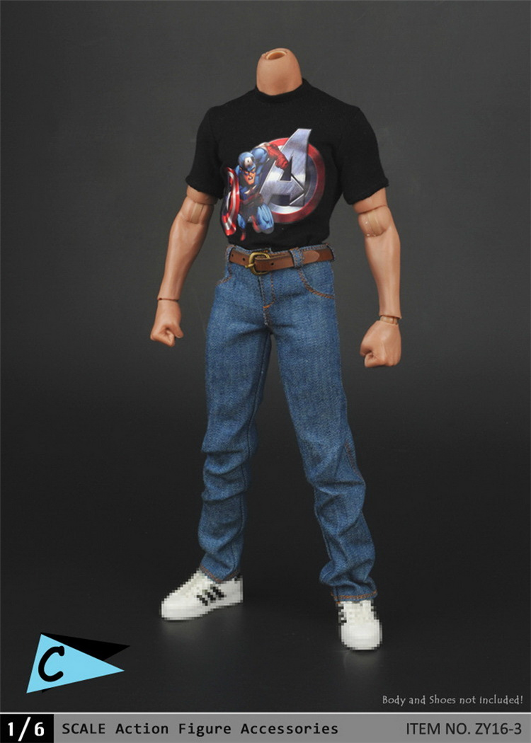 1:6 Scale male Figure clothes Accessory T-Shirt+jeans suit for 12 Action figure doll,not include head;body and other женские кольца jv женское серебряное кольцо с синт аметистом в позолоте 30 014 510 030 gams yg 18