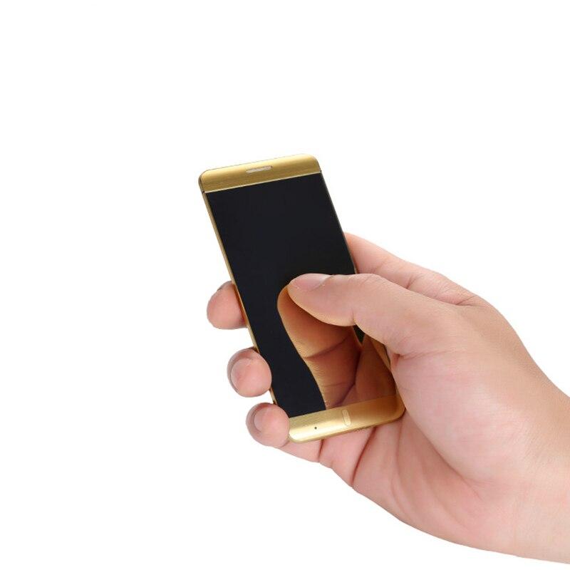 A7 Untra mince Téléphone Intelligent 1.63 pouce Écran Tactile Dual Band SIM Simple Téléphone Portable De Luxe Bluetooth Smartphone MP3 MP4 Lecteur #4