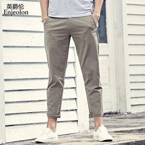 Image 2 - Enjeolon marque pantalons longs pantalon homme crayon solide pantalons décontractés hommes Top qualité vêtements homme pantalon Casual vêtements K6226