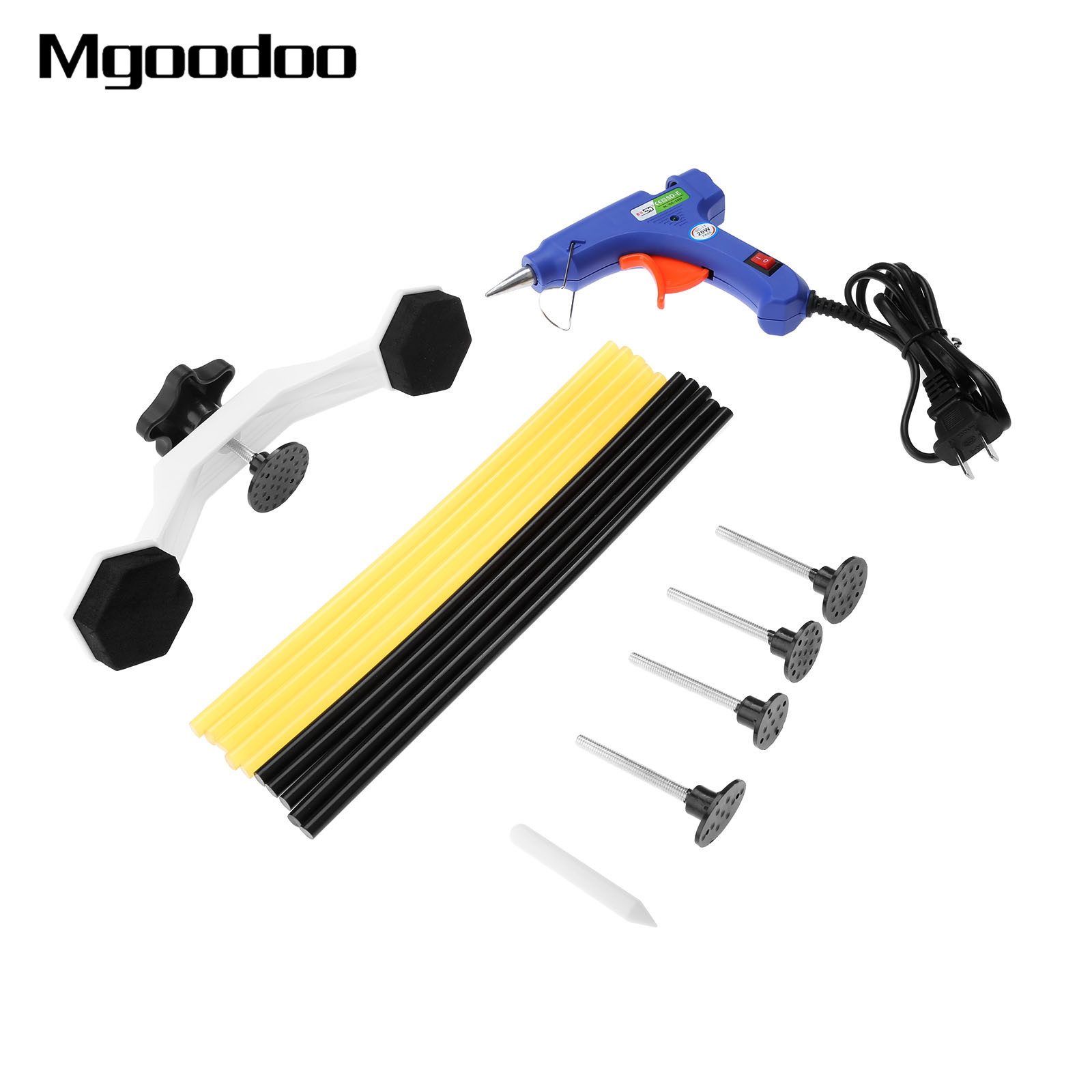 PDR Tools Pops a Dent Repair Bridge Dent Puller Kit with Hot Melt Glue Gun Pro PDR Glue Sticks for Auto Car Body Dent Repair