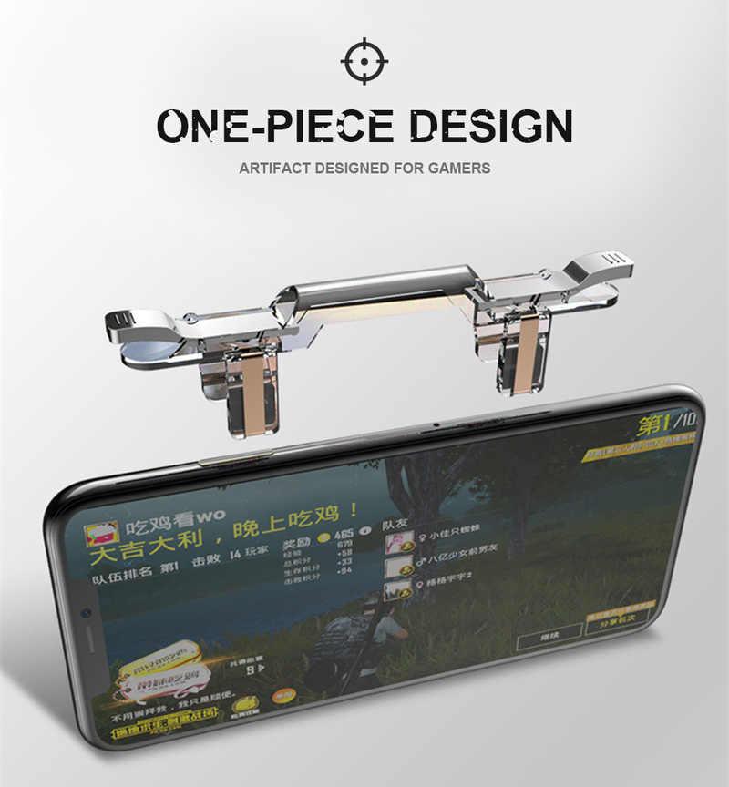 Металлический смартфон мобильный игровой триггер для PUBG мобильный геймпад кнопка для стрельбы цель ключ L1 R1 стрелок Pubg контроллер