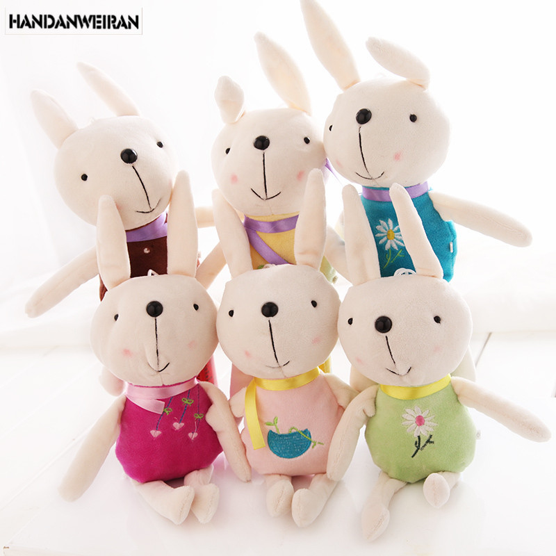 2018 new Cute Rabbit toys Plush Doll  mini pendant  toys for children wedding gift Holiday  wholesale 6 piece/lots  hot sale 1pcs 22cm fluffy plush toys white eyebrows cute dog doll sucker pendant super soft dogs plush toy boy girl children gift