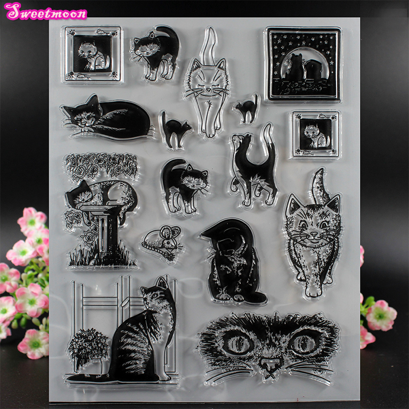 Various Cats Scrapbook Clear Stamp photo cards account rubber stamp Scrapbook Embossing Folder card Stamp thank you my friend you are the best scrapbook clear stamp photo cards account rubber stamp embossing folder card stamp