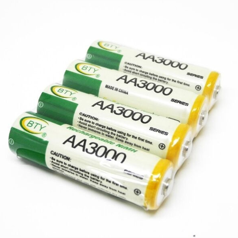 14500 Rechargeable Battery AA 3000mAh 1.2V NI-MH LED Toys Player Toys Recycling Batteries Mix Colors GTL EvreFire