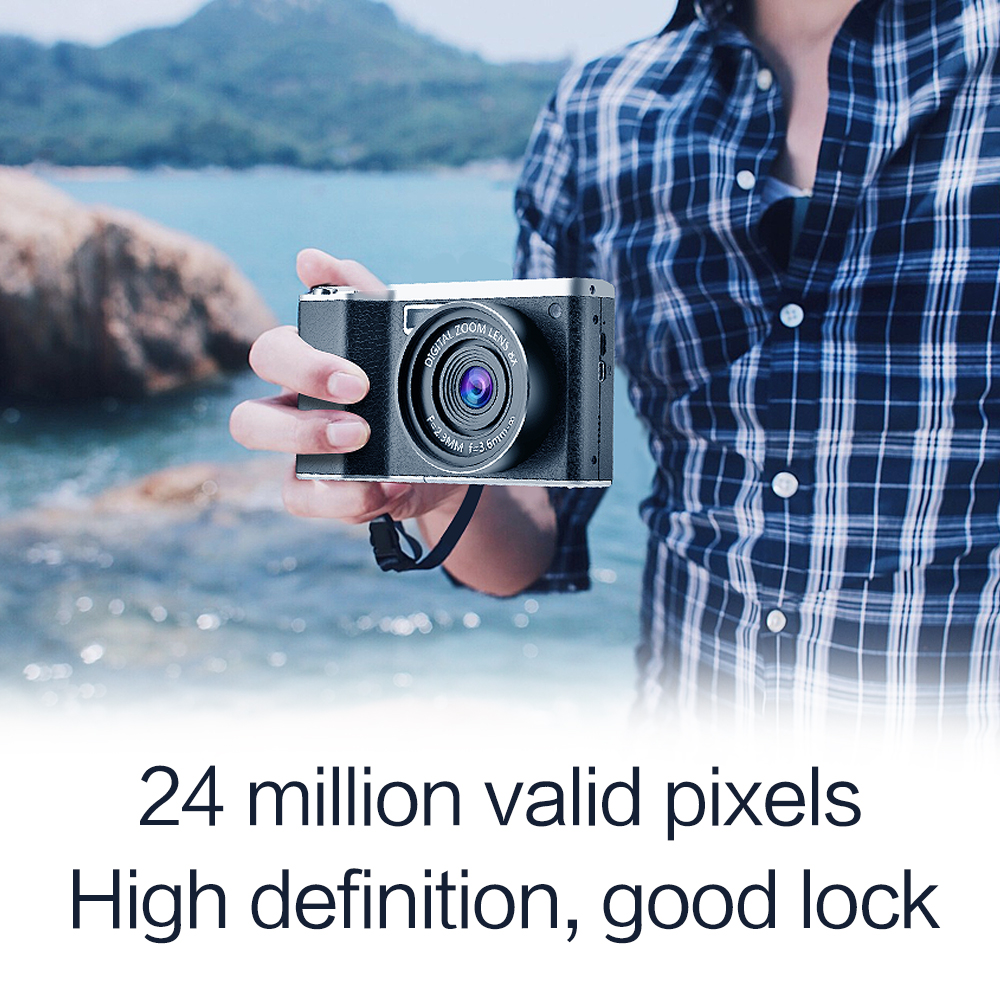 24 Million Pixel Wide Angle HD IPS Touch Screen DSLR Camera 4.0 inches Digital Camera Birthday Best Gift image