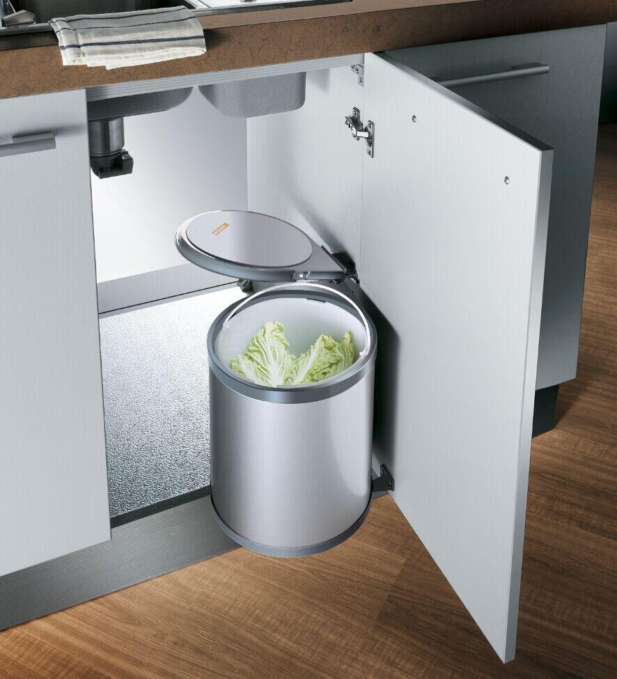 Oppein Interlink Design Waste Bin For Kitchen Cabinet Op Wt001a