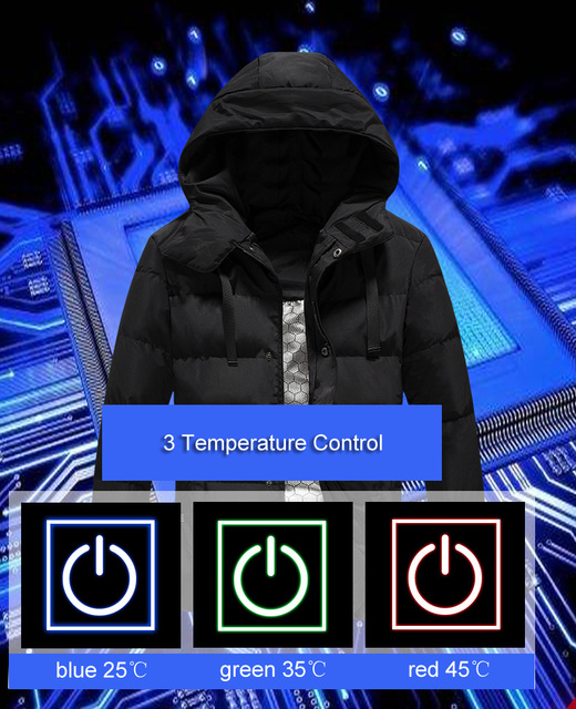 LoClimb L-5XL USB Heated Jacket Men Winter Heating Windbreaker Hiking Thermal Waterproof Jacket Men's Coat Outdoor Jackets AM361 1