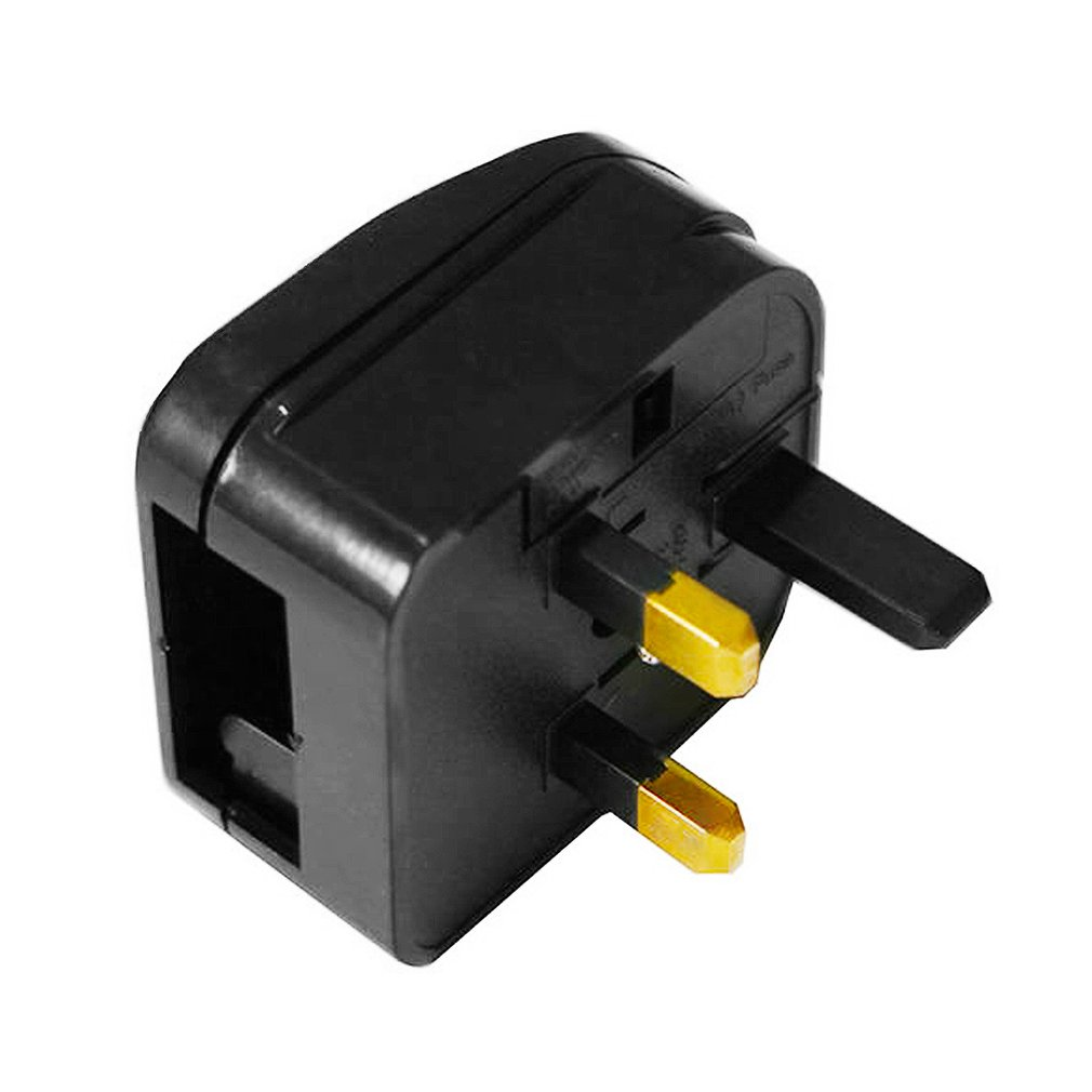 Universal Travel UK to EU Plug AC Power Charger Adapter Outlet Converter Socket Black Power Plug Adaptor Connector For Home