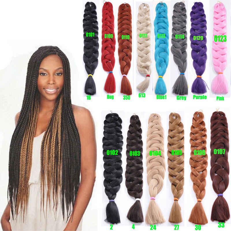 41 ''Kanekalon Jumbo Braid длинные крючком синтетические волосы твист 165 г J