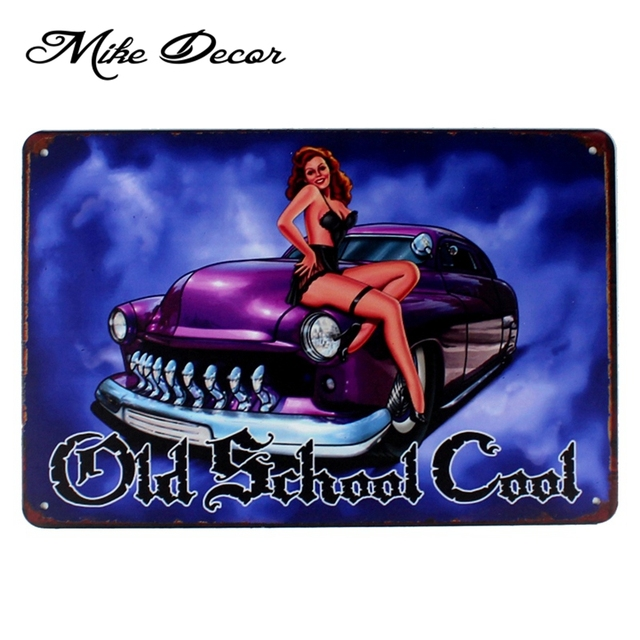 Smooth Ride Garage Metal Poster Sexy Art Painting Antique Bar Home Hall 20×30 Cm Aa-1043