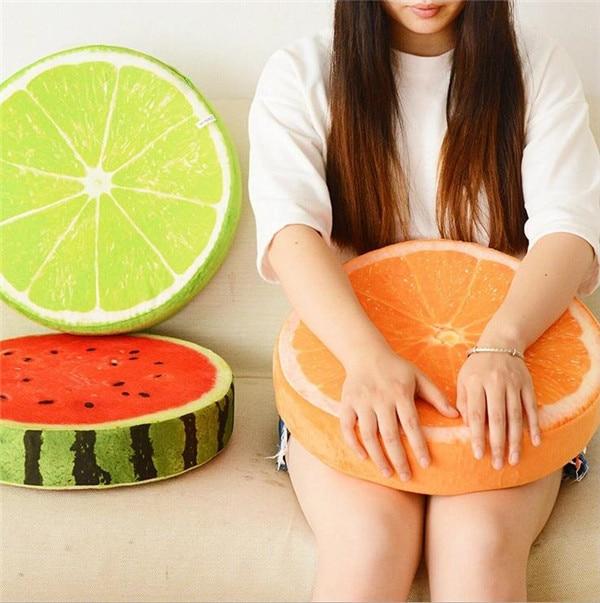 Seat Cushion Round Pillow Creative Cushions Home Decor 3d Fruit Cushion Novelty Birthday Gift For Kids