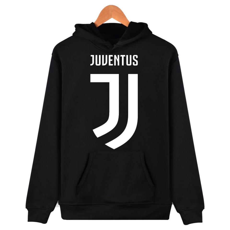 2017 Man/women hoodie long sleeve Juventus new logo fans Clothes Black with hat club Fashion Casual Italy Gianluigi Buffon