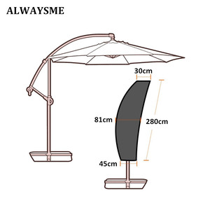 Image 3 - Waterproof Oxford Cloth Outdoor Banana Umbrella Cover Garden Weatherproof Patio Cantilever Parasol Rain Cover Accessories